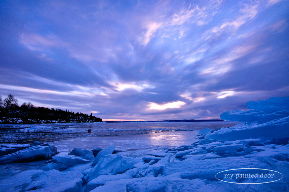 Lake Superior at sunrise - Thunder Bay, Ontario. Photography by Sue Sikorski