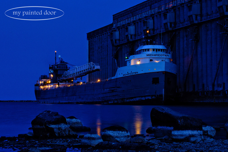 Grain ship in Thunder Bay, Ontario. Photography by Sue Sikorski