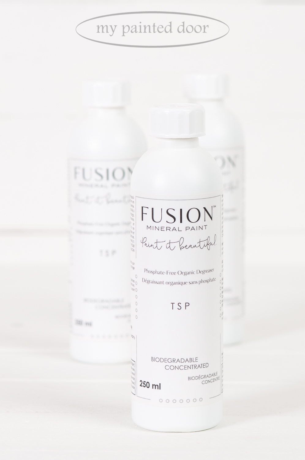 Fusion Mineral Paint TSP available online at My Painted Door. Fusion TSP is a biodegradable, phosphate-free and organic degreaser.