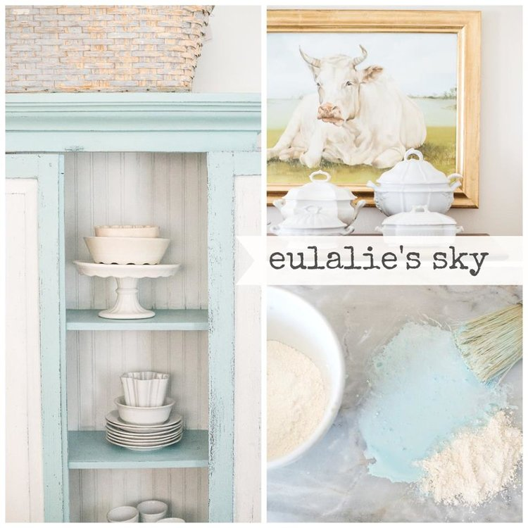 Miss Mustard Seed's Milk Paint Eulalie's Sky. Available online at My Painted Door.
