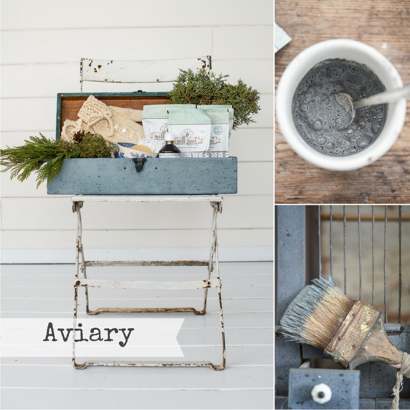 Miss Mustard Seed's Milk Paint Aviary. Available online at My Painted Door.