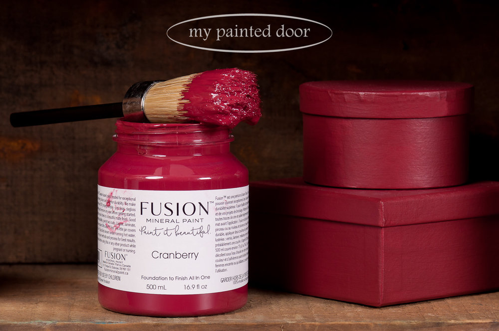 Fusion Mineral Paint in the colour Cranberry. Available at My Painted Door.
