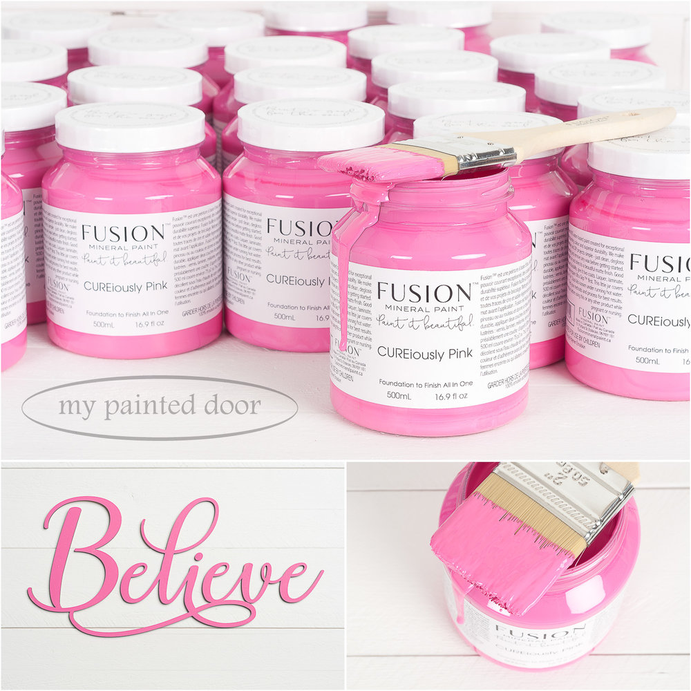 New Fusion Mineral Paint Colour - CUREiously Pink. Available online at My Painted Door.