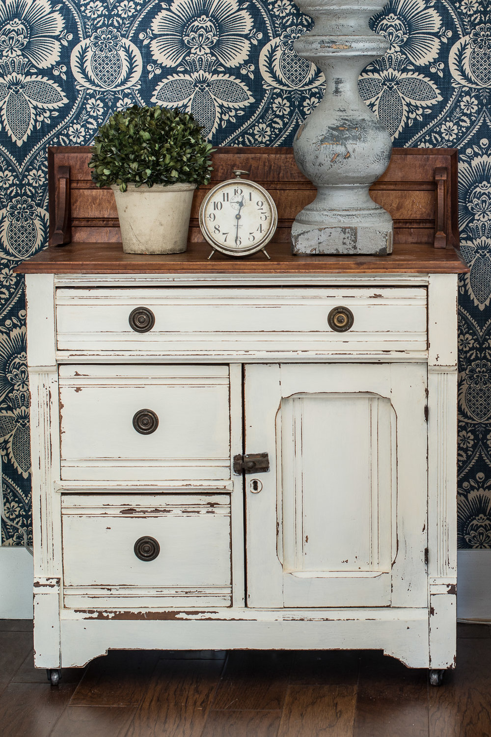 Buffet Painted In Miss Mustard Seed's Milk Paint in the Colour Linen