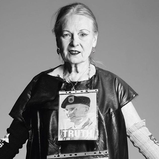 """""""Buy less, choose well, make it last."""" Dame Vivien Westwood fearlessly advocates sustainability in fashion and leading the way for changing consumers buying behaviour. #cleancutfashion #iamcleancut @viviennewestwoodofficial #vivienwestwood"""