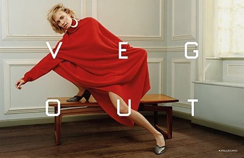 """Stella McCartney collaborates with American artist Ed Ruscha to create her Fall 2016 campaign with a difference. Ruscha has overlaid bold, stylised text across each image of model Amber Valetta, with references to McCartney's stance on vegetarianism and the non-use of animal products in clothing production. Pronouncements like """"No Leathers, Feathers or Fur,"""" """"Veg Out"""" and """"Meat Free"""" boldly feature. @stellamccartney Model @ambervalletta Photographer @harleyweir Stylist @jane_how #cleancutfashion #iamcleancut #stellamccartney #consciousfashion"""