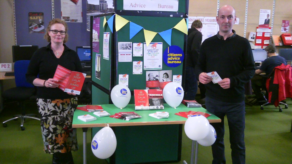 Gorgie/Dalry Bureau 'Scams Awareness Stall' based at Fountainbridge Library