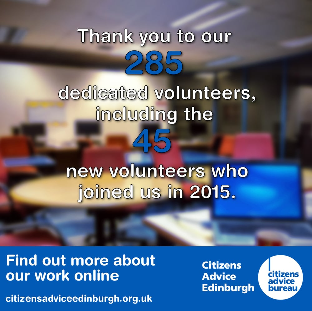 Citizens Advice Edinburgh - 2015 Volunteers