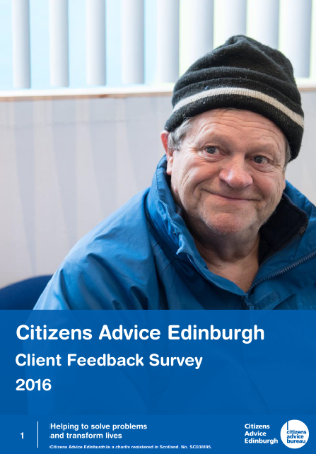 Citizens Advice Edinburgh Client Review 2016