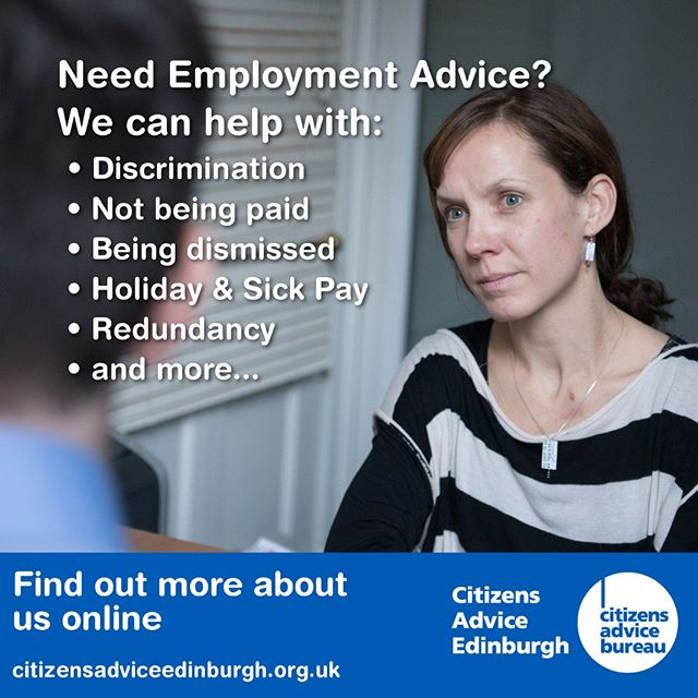 We run an #Employment #Advice service here in #Edinburgh which offers support with a wide range of work related issues.