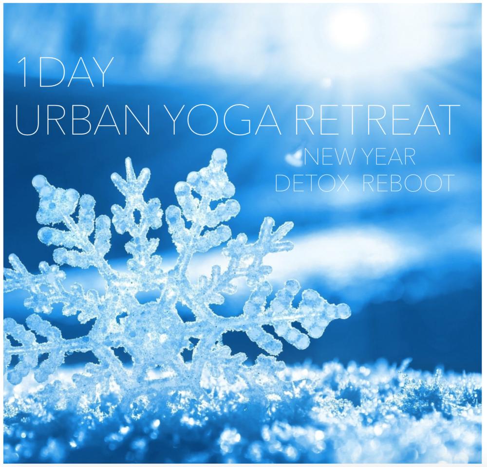 1day Urban Yoga Retreat : Newyear Detox&Reboot Sunday 11th Jan 2015 9-17h