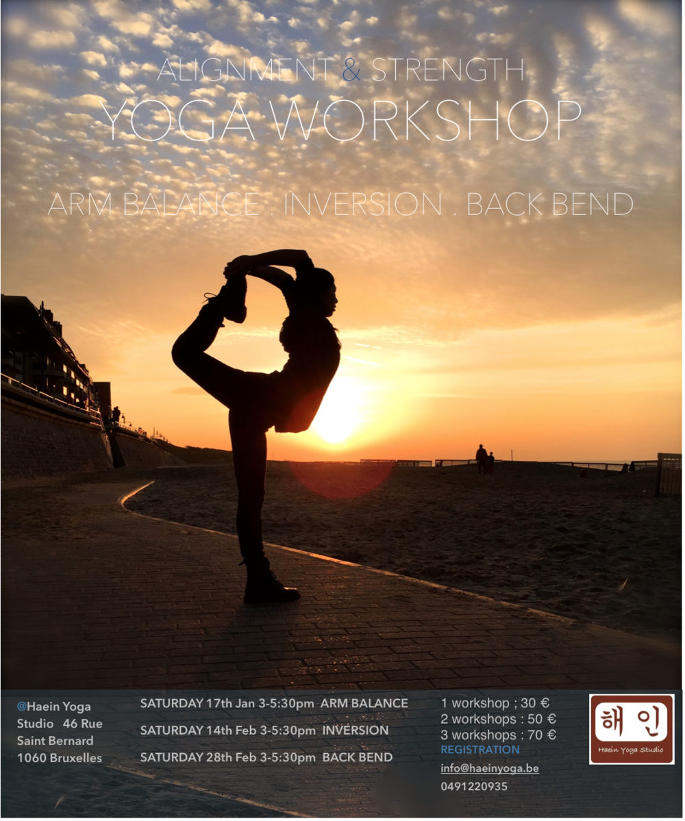 Yoga Workshop : Alignment & Strength #2 Inversion Saturday 14th Feb 3-5:30pm