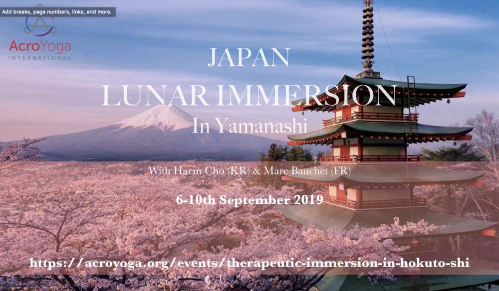 Japan Acroyoga Lunar Immersion 6-10th Sep