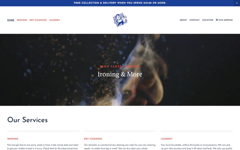 High Class Ironing Website Design