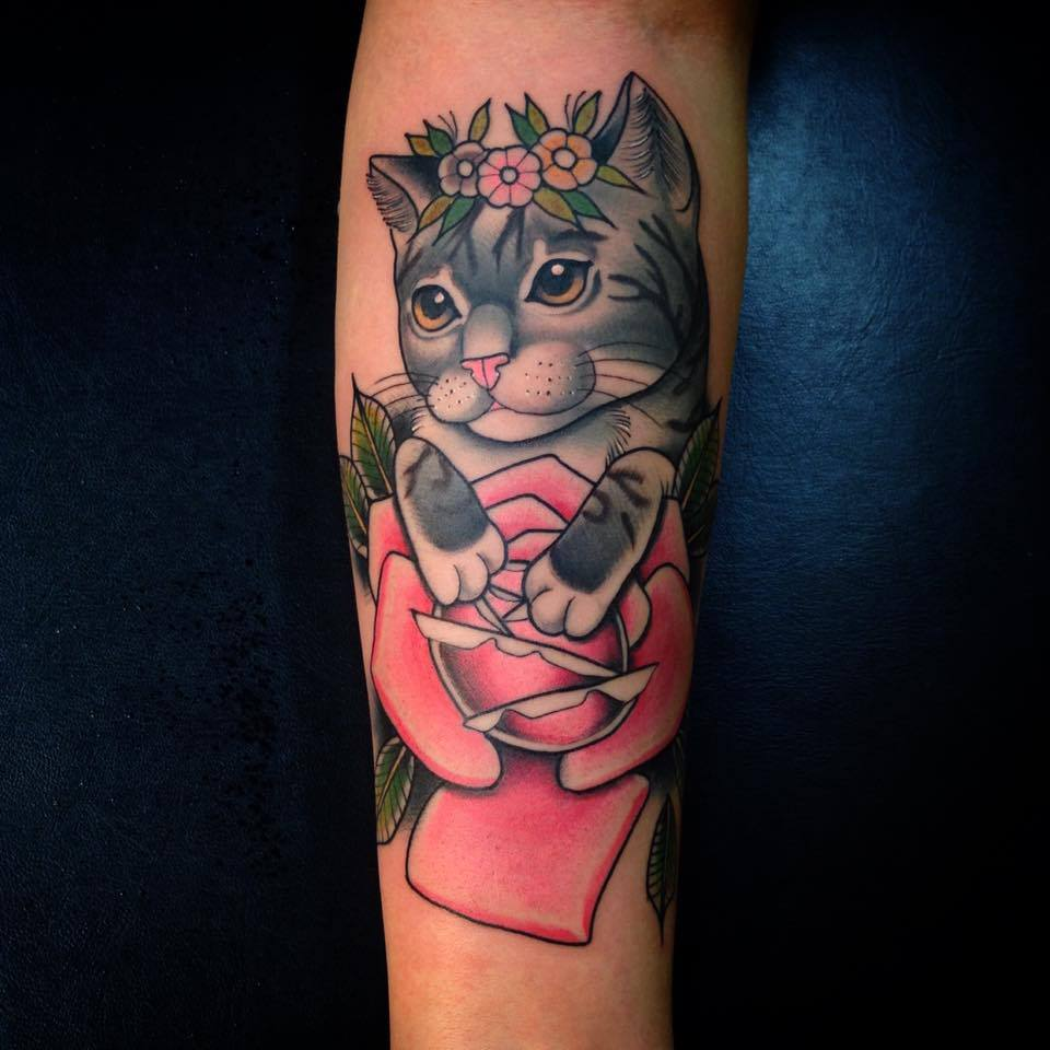 neotraditionalcattattoo
