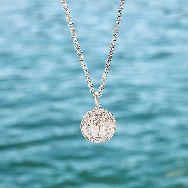 Inspired by an antic sri lankan coin, this pendent will make you feel like a million dollars. shop the necklace online: shop.kinsfo.lk - available in silver and gold ✨  #kinsfolk #jewelry #necklace #silver #gold #shoponline