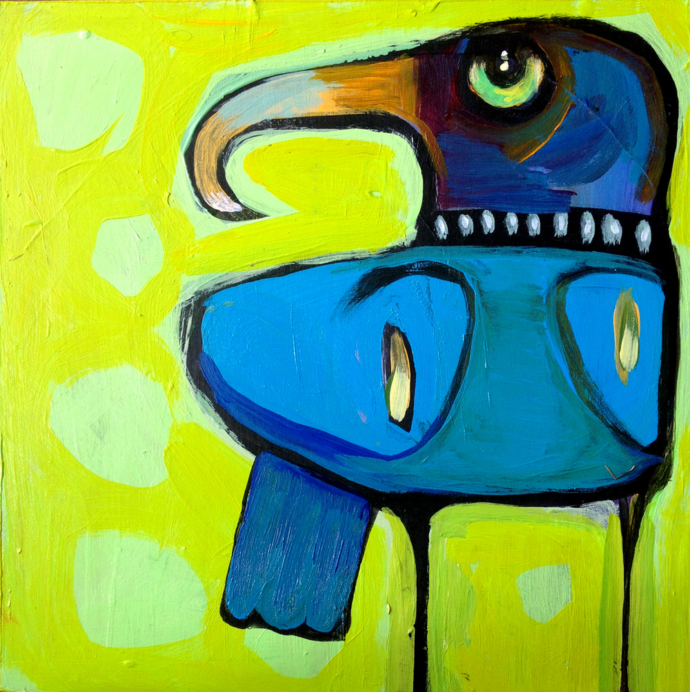 "mr. jackson   acrylic on canvas  8x8""   Currently showing at  The Hive"