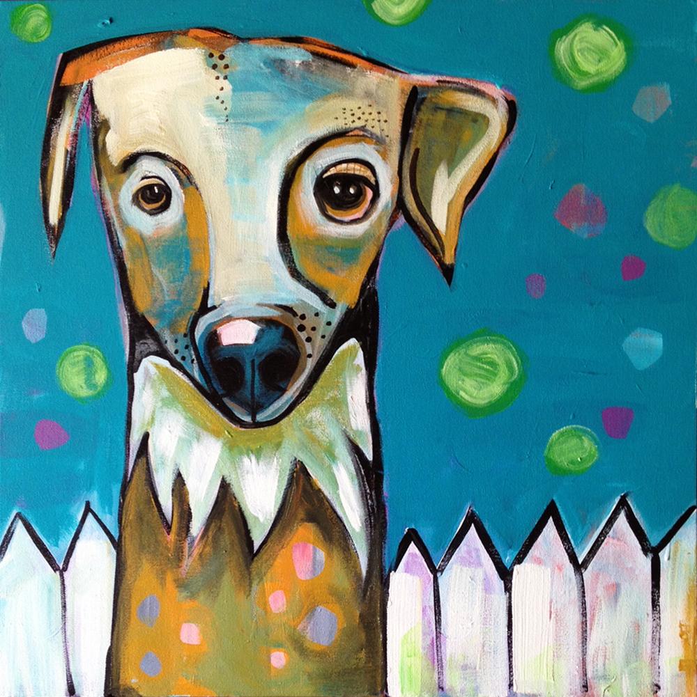 "Olive 24""x24"" Acrylic on canvas."