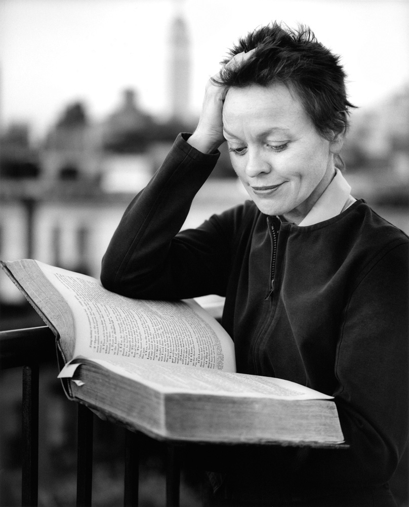 Photo of Laurie Anderson by Clifford Ross, via  BOMB Magazine