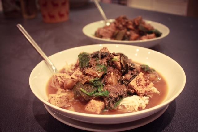tofu-mushroom-chilli-miso-hotpot