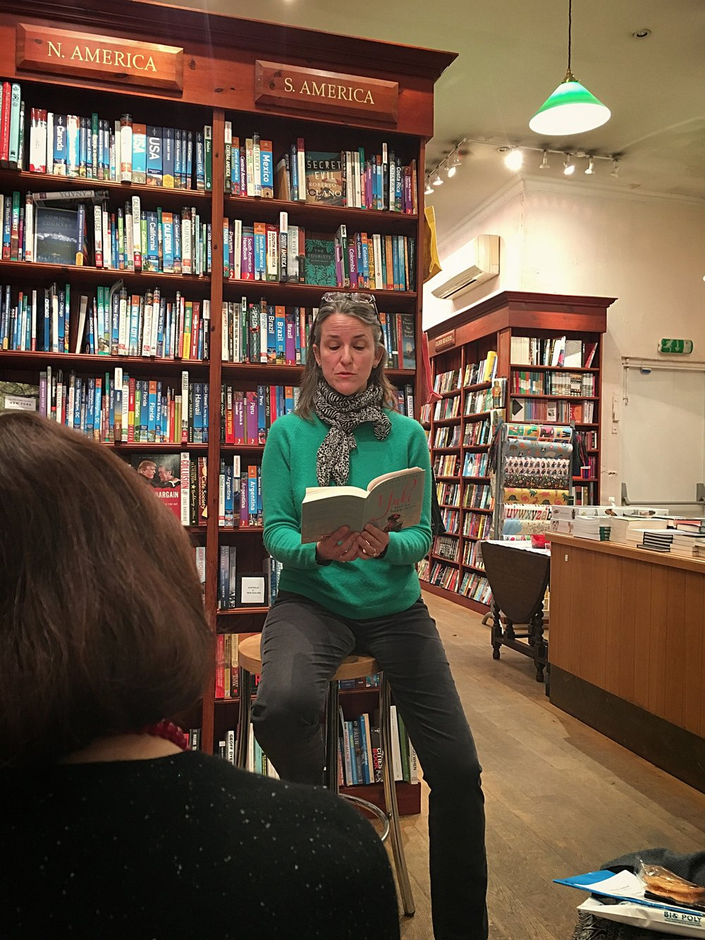 She read. She sang (beautifully). She told us how her latest novel came to be. It was wonderful.