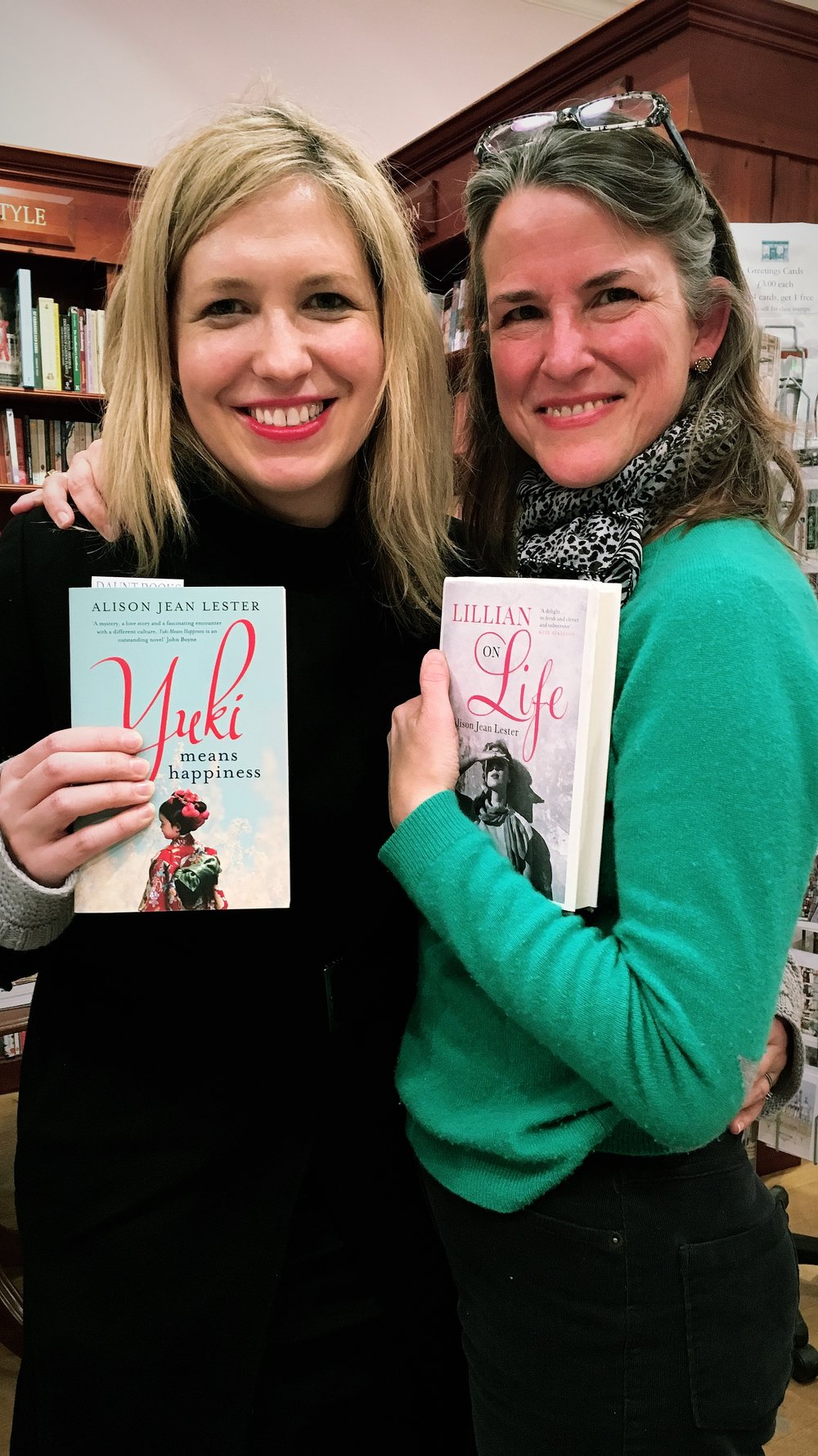 Me and Alison, with her two brilliant novels.