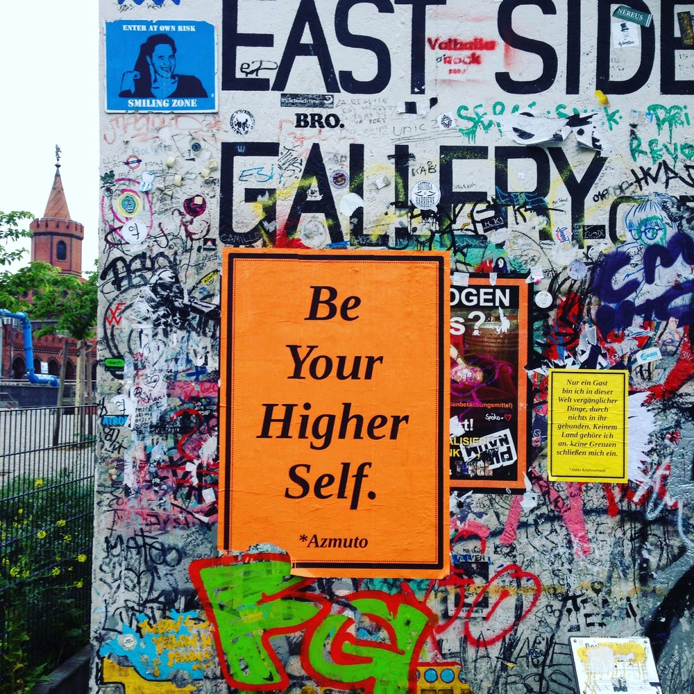 Berlin Wall, East Side.