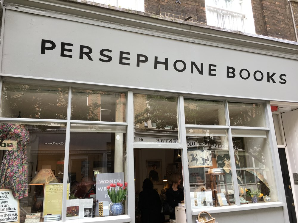 The Persephone Bookshop in Lamb's Conduit Street, London.