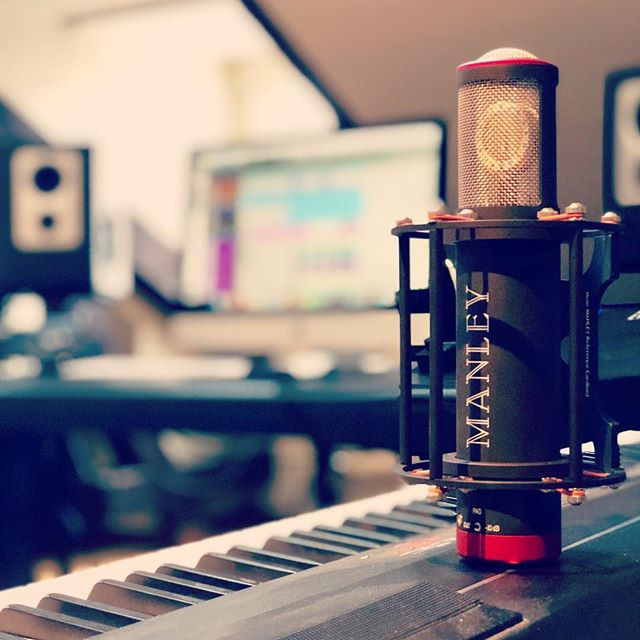 Recording vocals with our newest addition @manleylabs Ref C! Great microphone! #footprint01 #manley