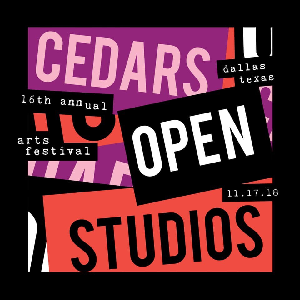 My studio is open to the public this Saturday, November 17th, at The Cedars Union. Here's a map: