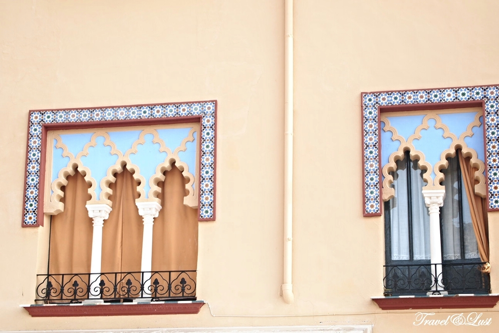 Wonderful colours and decor on the windows in the old quarters.