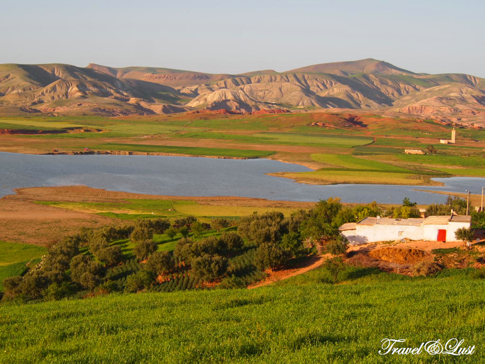 Here is a beautiful lake called Sidi Chahed surrounded by olive trees.