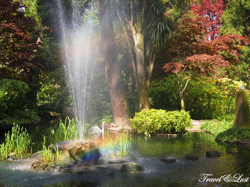 Catch the sight of a rainbow in the garden of Quinta da Aveleda.
