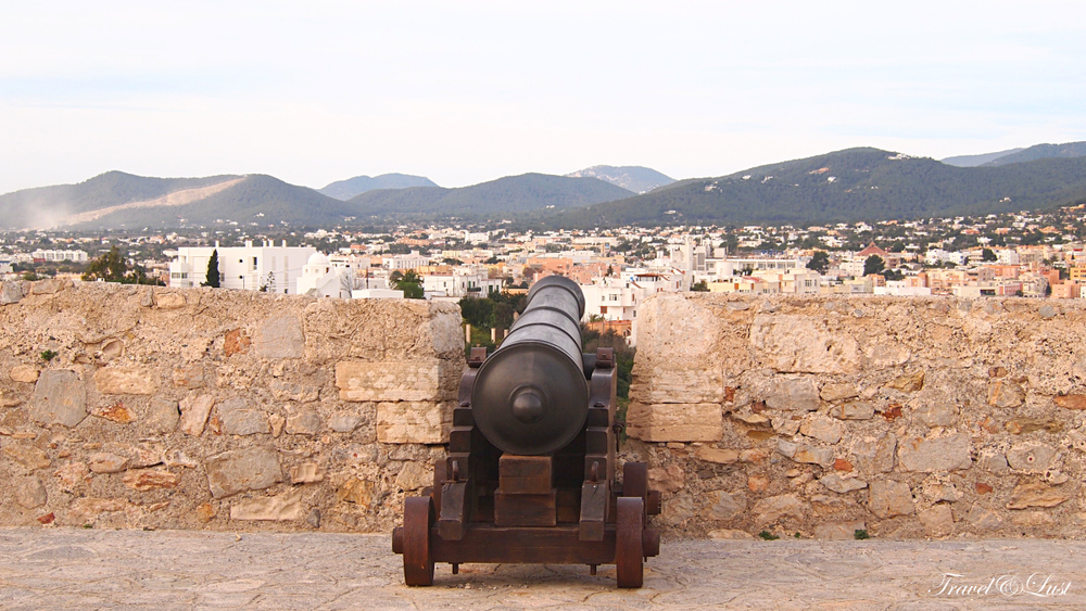 The ramparts of Ibiza's historic upper city.