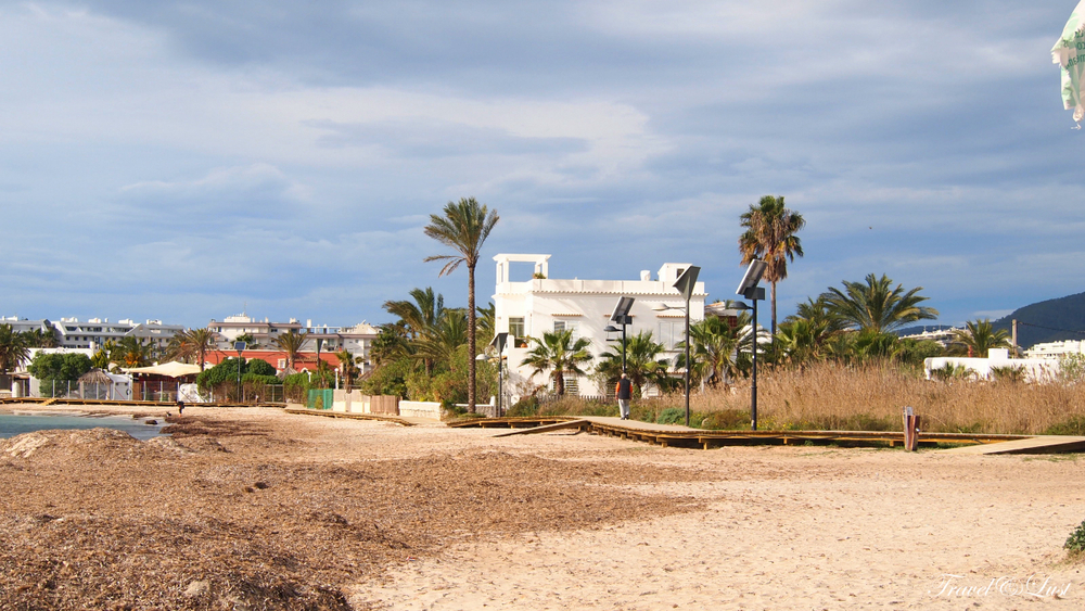 The picturesque bay of Talamanca is a peaceful resort with a beautiful sandy beach.