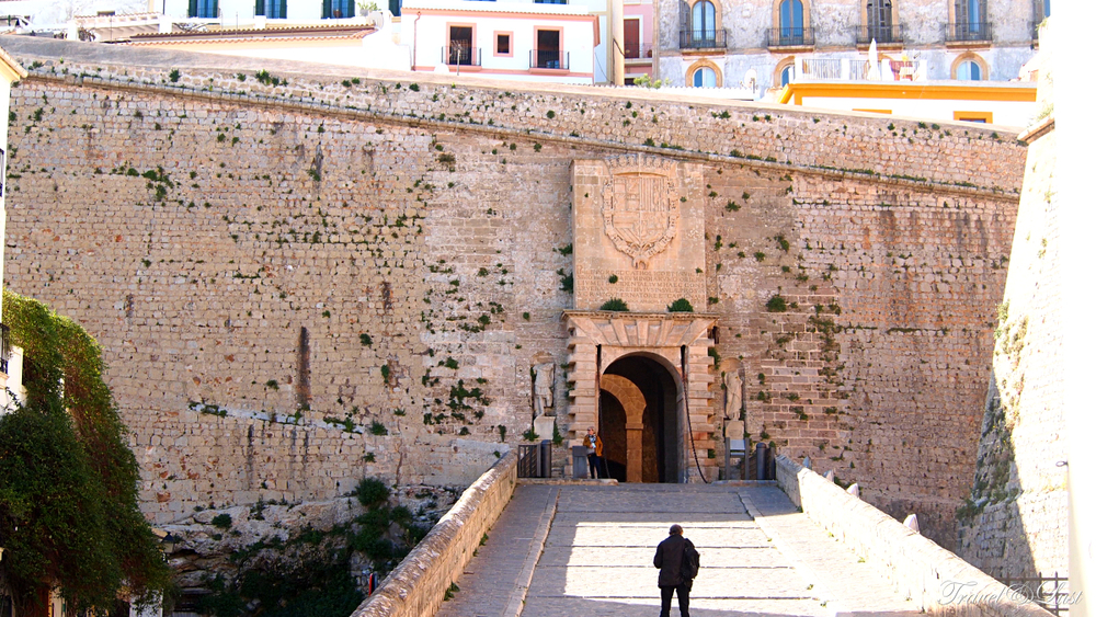 Enter the fortified Ibiza Old Town, Dalt Vila.