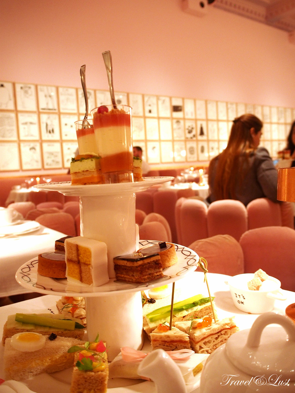 sketch - Afternoon Tea, £45 per person |Champagne Afternoon Tea, £57 per person |Children's Afternoon Tea, £27 per child - including Pat the Bear