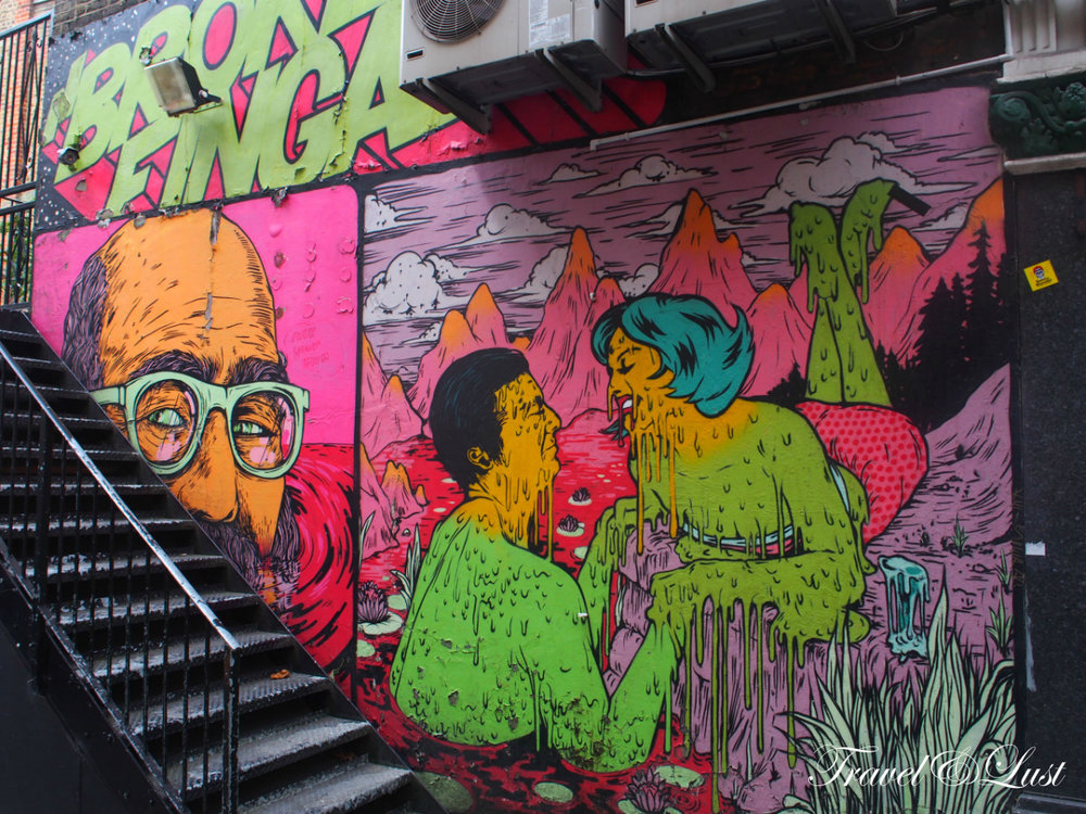 The street art around Dalston can be quite cool, be sure to spot them whilst walking.