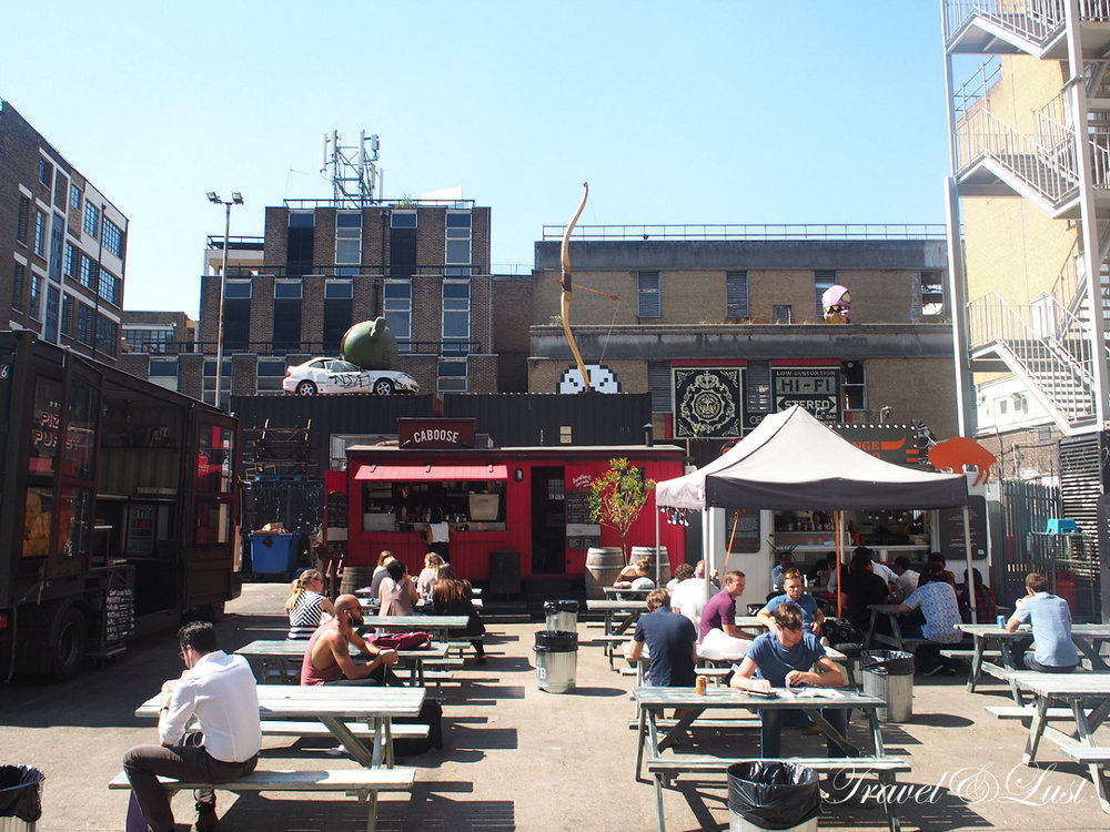 The Old Truman Brewery: Ely's Yard Street Food area, opens everyday.