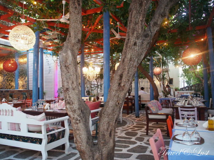Tucked in a side street you can find Pelagos Restaurant.