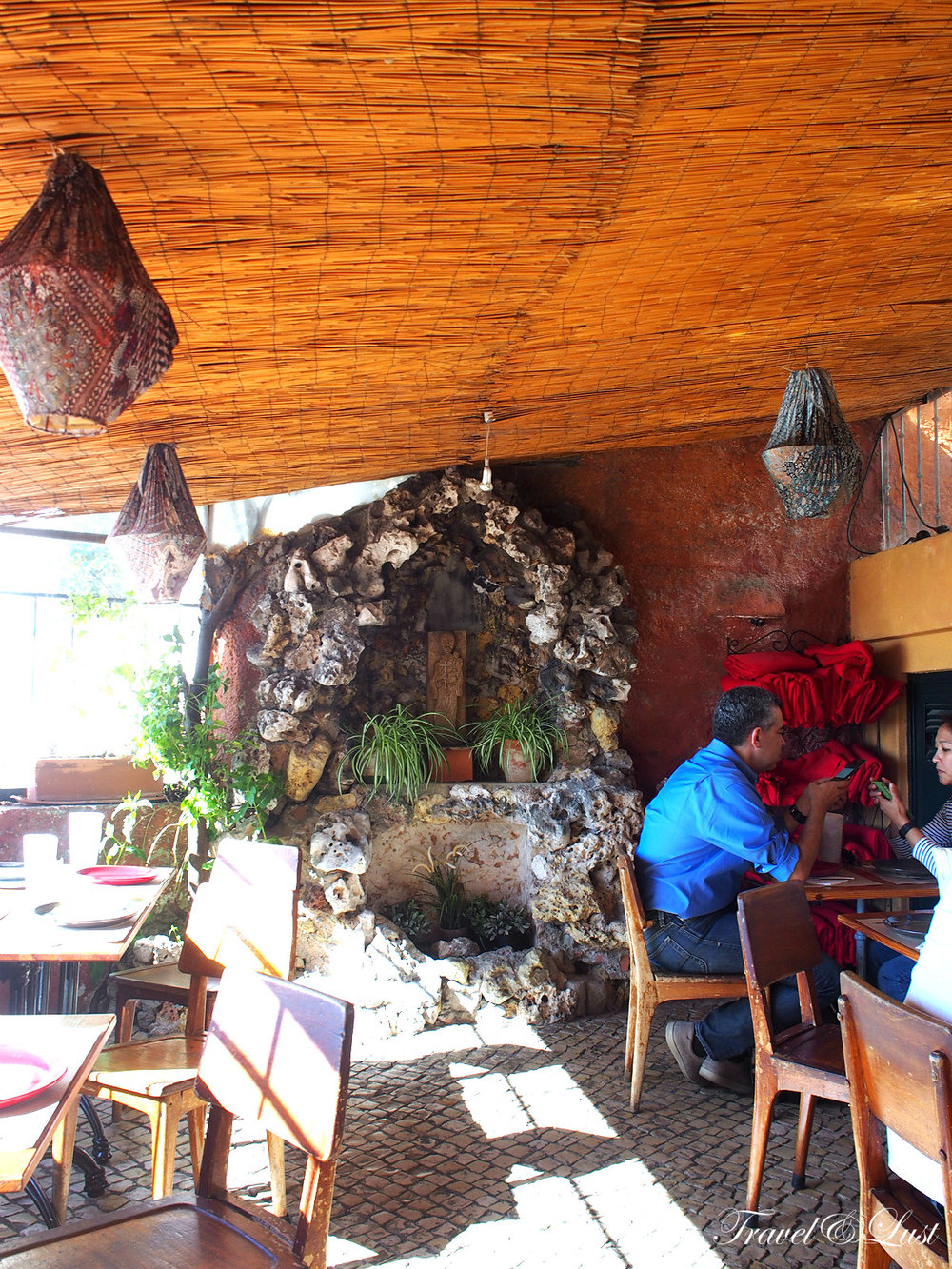 Our seating area was quite chic, with a hint of folklore and a stunning backdrop that is more like a mirador.