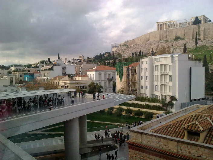 Acropolis and museum.
