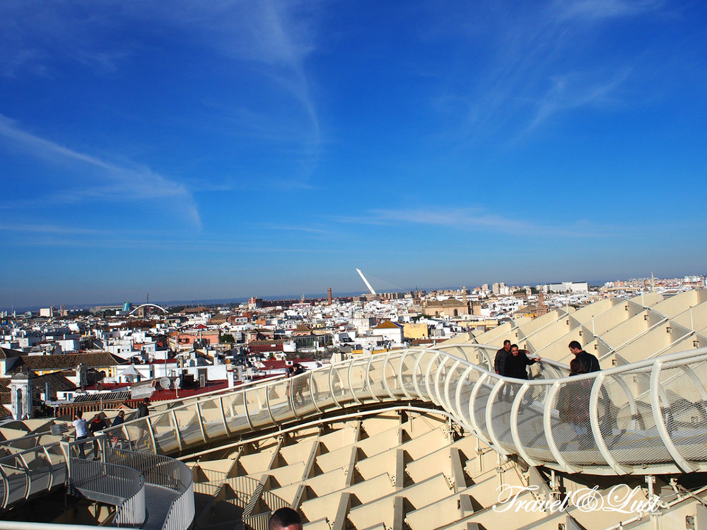 Metropol Parasol is a wooden structure located at La Encarnación square. The structure was designed by German architect Jürgen Mayer and completed in April 2011.
