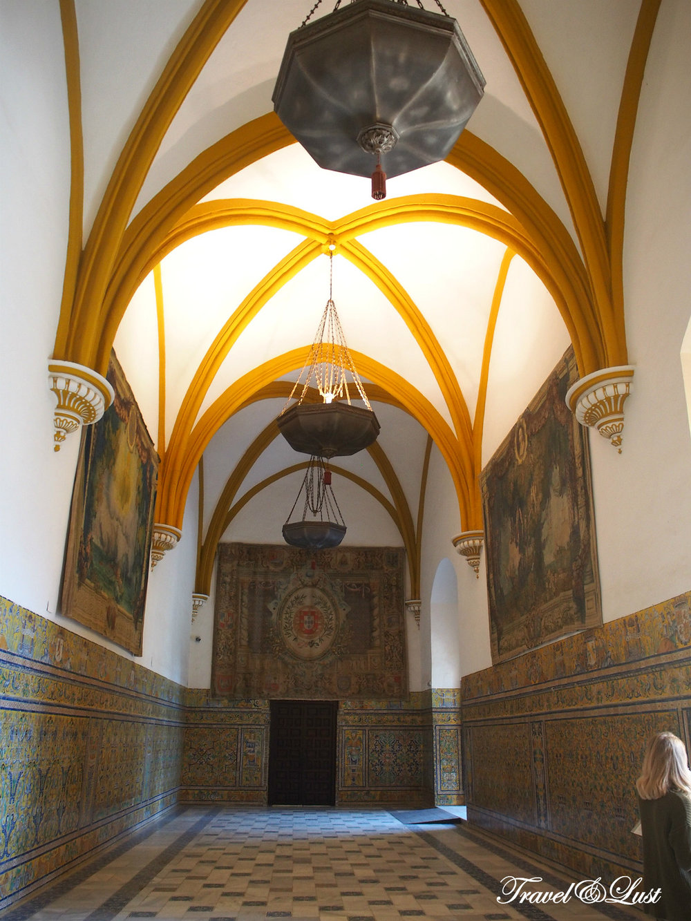 The Real Alcázar de Sevilla (The Alcazar of Seville) is divided into sections dating from a succession of eras: Moorish (11th-12th century), Gothic (13th century), Mudejar (14th century), and Renaissance (15th-16th century).