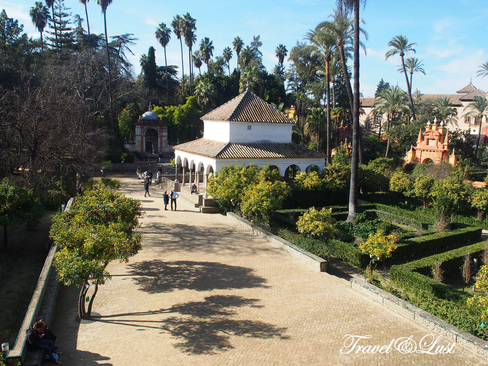 This pic is taken from the Alcázar Gardens viewed from Galeria de Grutescos.