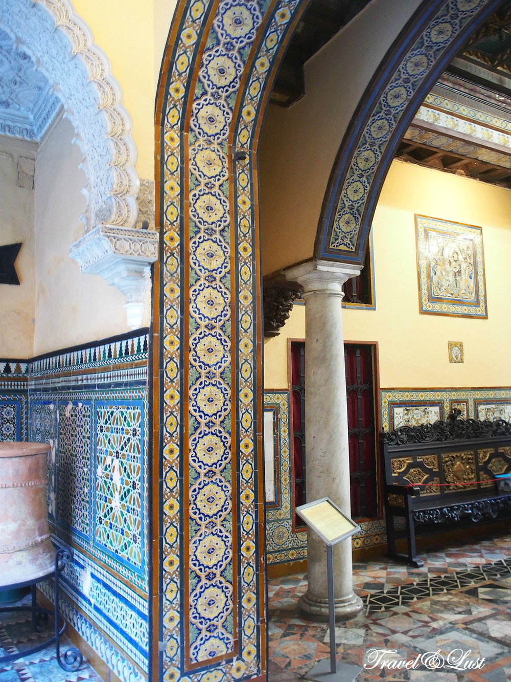 Fine details in the Palace of the Countess of Lebrija.