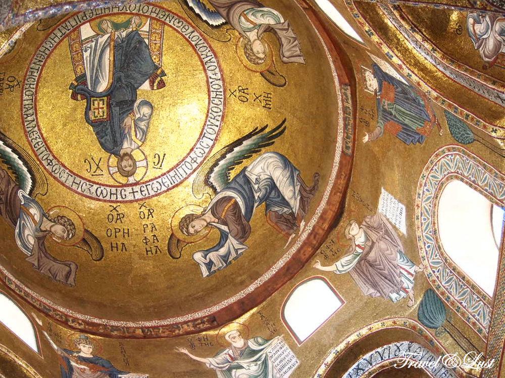 12th Century mosaics of the Martorana church.