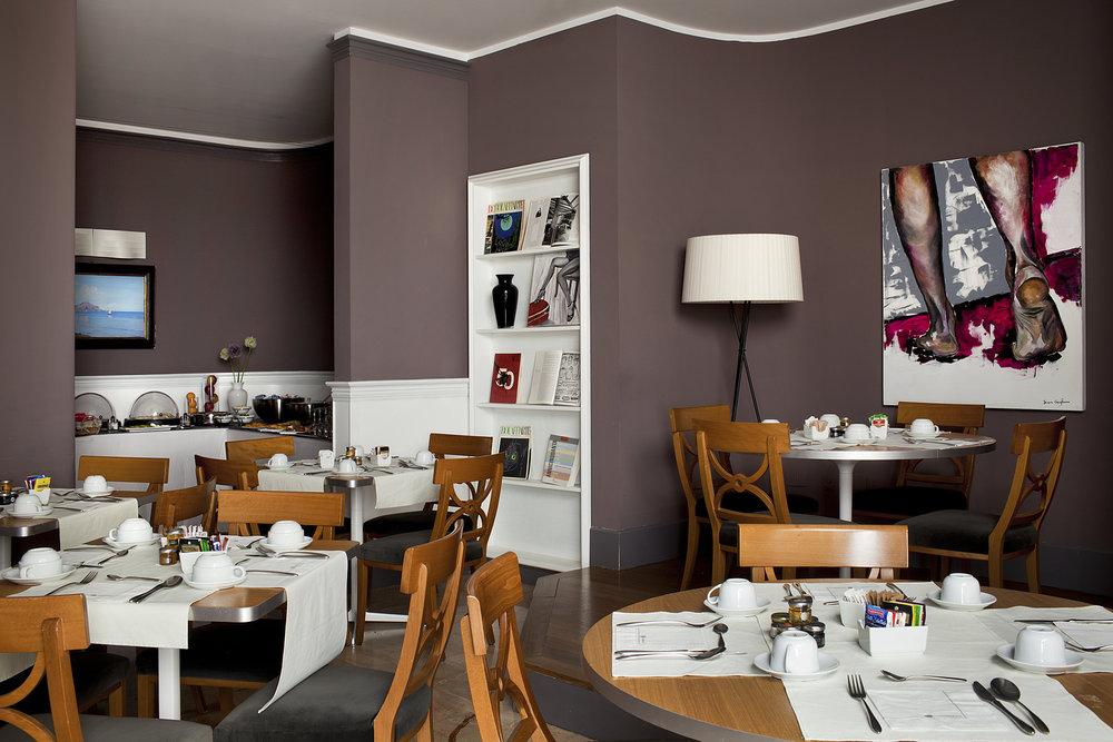 Breakfast room at the Il Principe e L'oste restaurant.