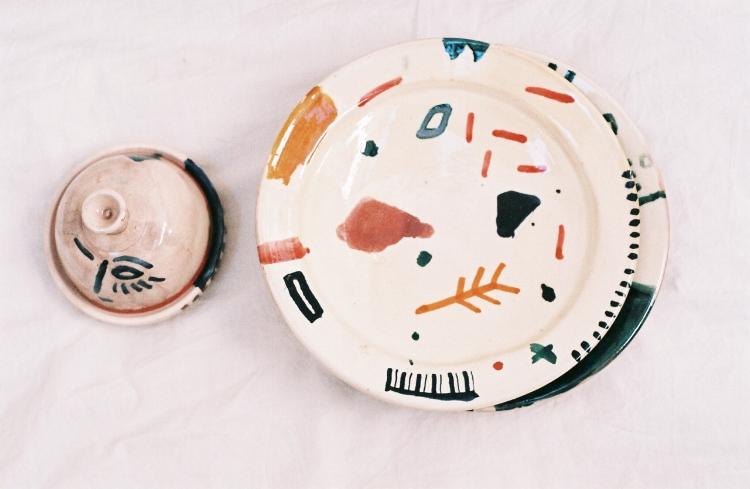 Colourful graphic ceramics