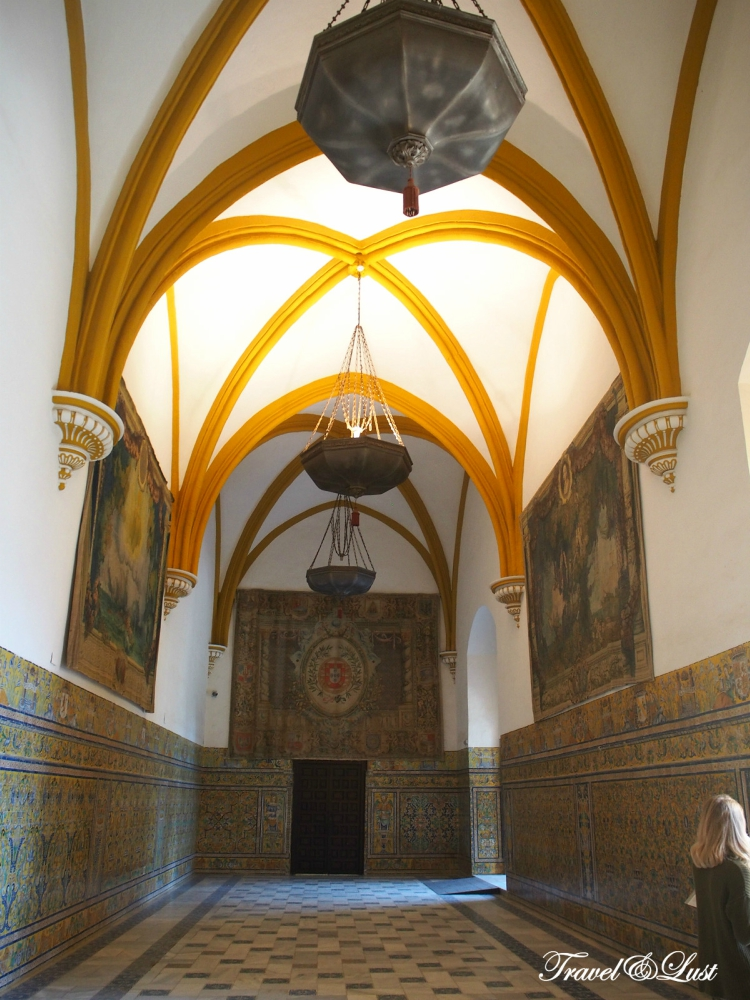 The Real Alcázar de Sevilla (The Alcazar of Seville)is divided into sections dating from a succession of eras: Moorish (11th-12th century), Gothic (13th century), Mudejar (14th century), and Renaissance (15th-16th century).